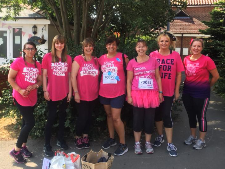 Centre and Pre School Staff supporting Pretty Muddy